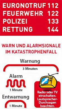 Alarm-Notrufnummern